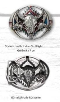 Gürtelschnalle Indian Skull light